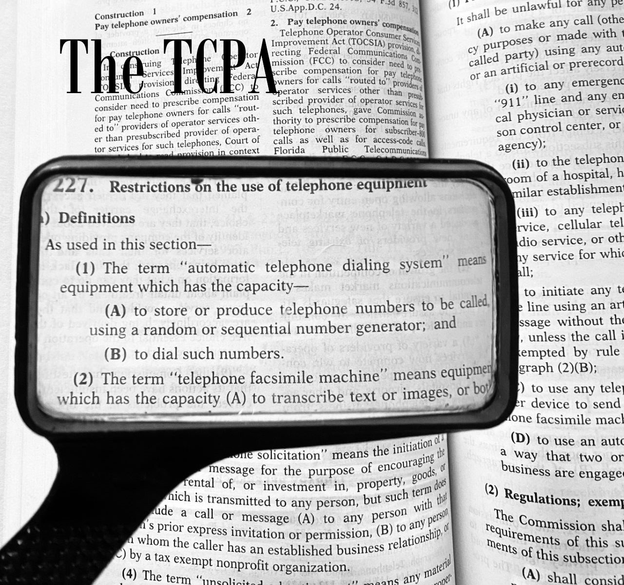 Federal Telephone Consumer Protection Act Autodialer